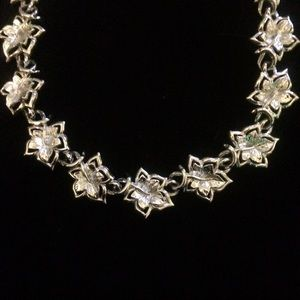 Vintage Signed Coro Floral Choker Necklace